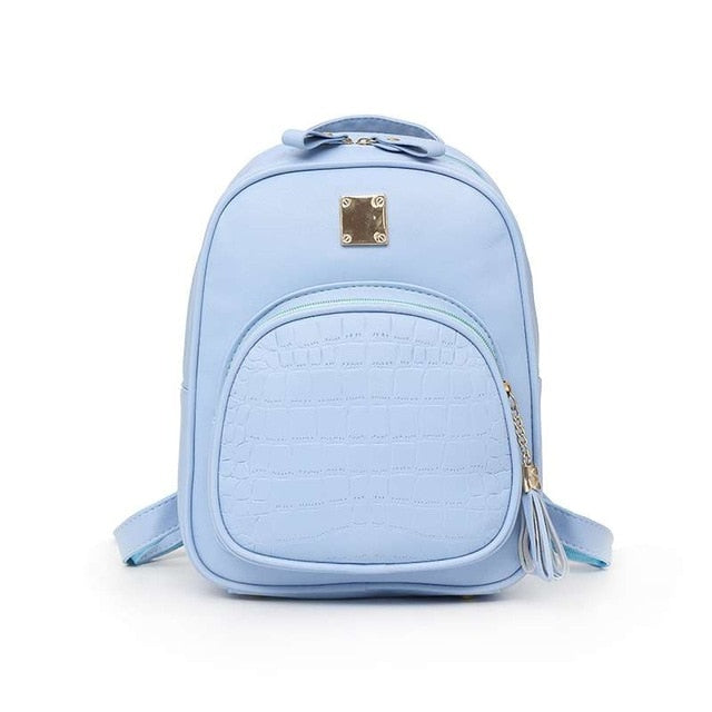 MAYIN Backpacks Woman 2018 Mini Leather Backpack Female Solid Color Bookbag Mochila Gift Backbag Backpack Schoolbag For Girls