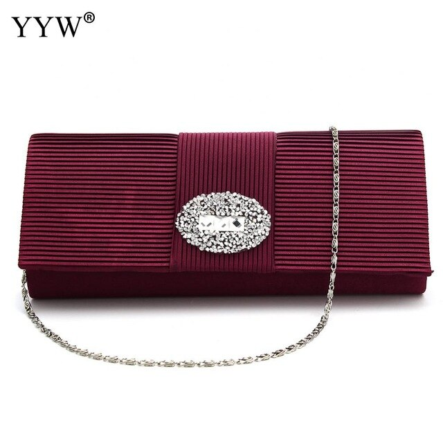 Chic Rhinestone Gold Clutch Bag Silver Evening Party Bag Canvas Shoulder Bag Brand Luxury Women'S Handbags Lady'S Clutches Black