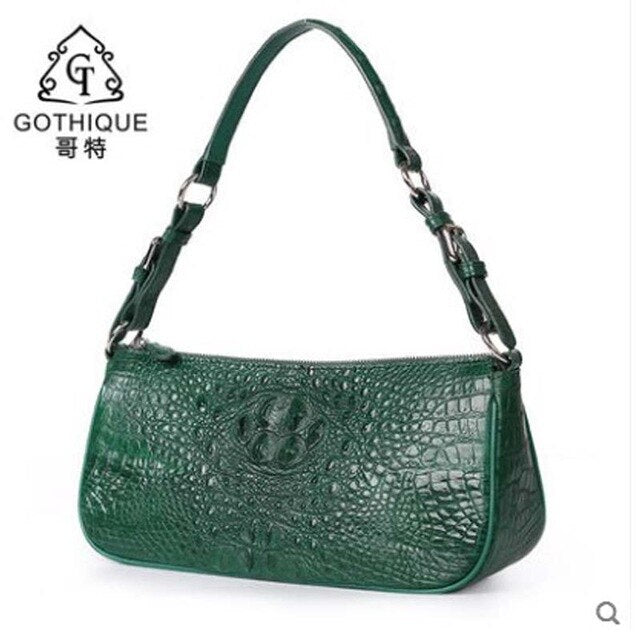 gete New crocodile leather bag leather shoulder bag crossbody bag fashion lady Satchel Crocodile leather women bag