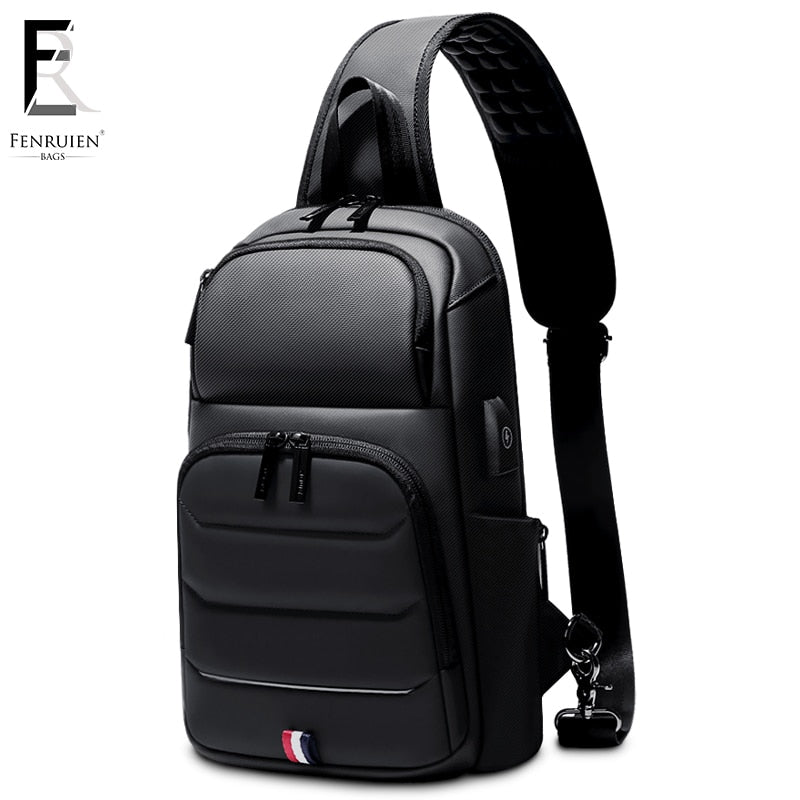 Crossbody Bags for Men USB Charging Messenger Sling Bag Waterproof Chest Bag Oxford Single Shoulder Strap Pack 2019 New