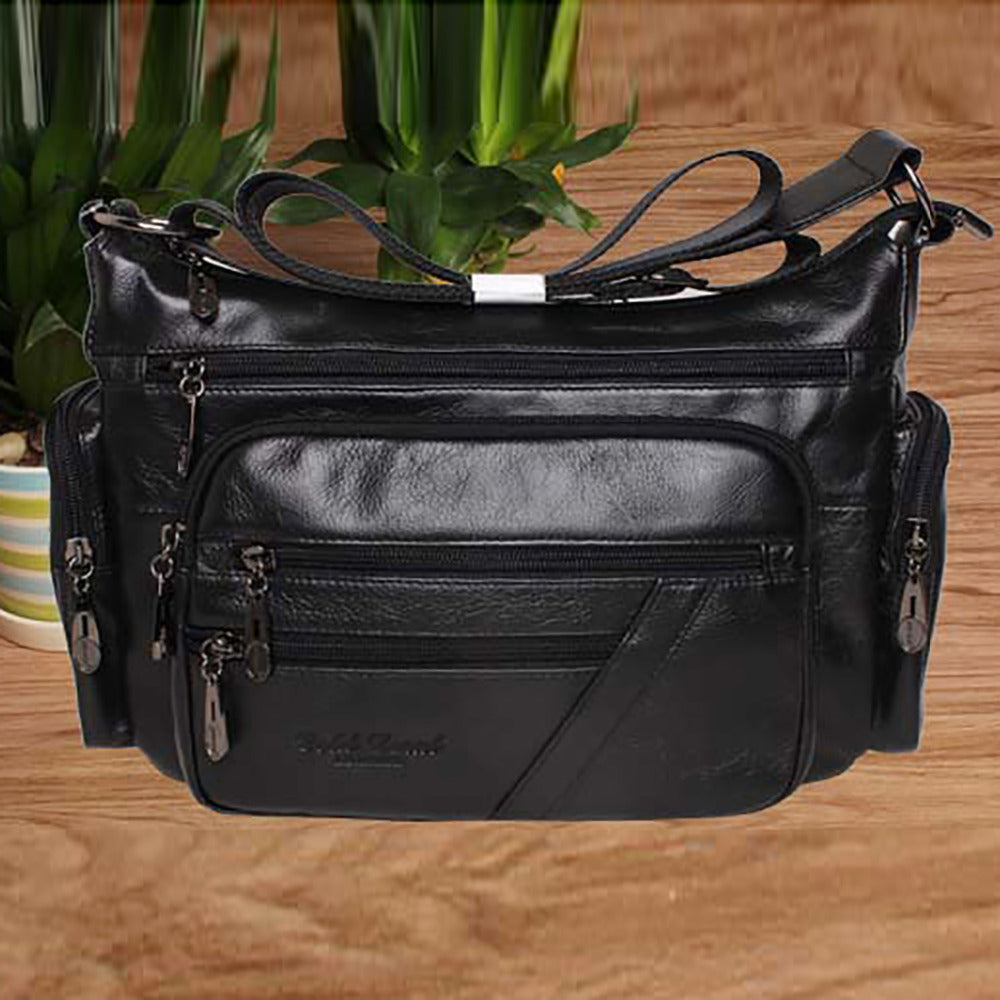 100% Genuine Natural Leather Sling Shoulder Bag First Layer Cowhide Cross Body Designer Famous Brand Ladies Women Messenger Bags