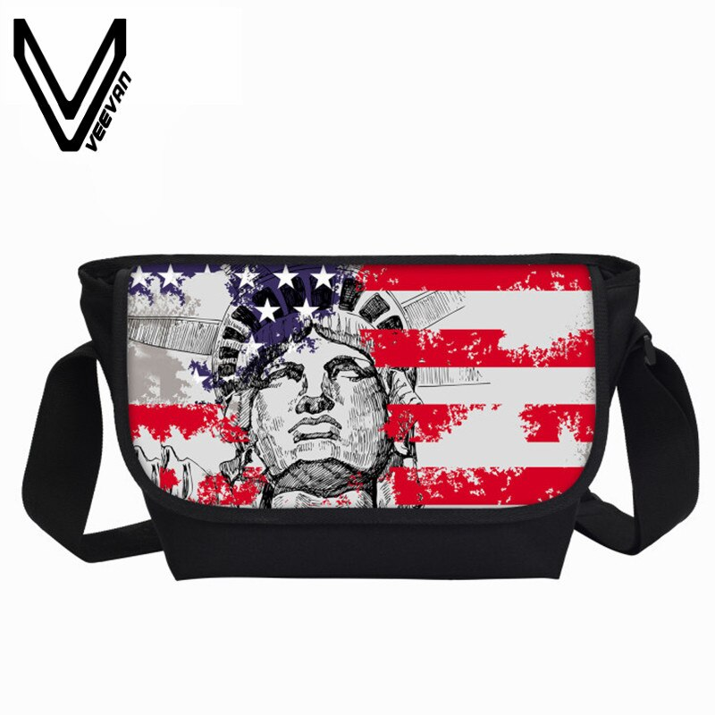 New Statue of Liberty Printing Women Messenger Bags Galaxy Universe Men Travel Bags Zebras Child School Bags Female Shoulder Bag