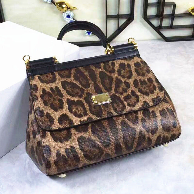 Unbelievable Charm! Perfect Quality! New Fashion Leopard Drills, Large, Sloping, Retro, Casual, Handbag, Shoulder Bag, Women Bag