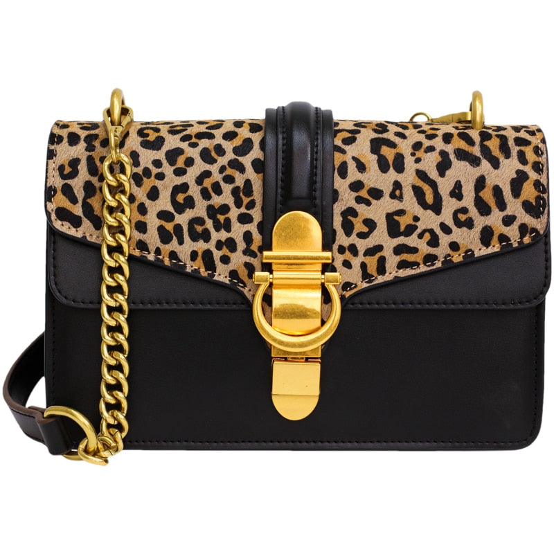 Luxury Fashion Leopard Chains Shoulder Crossbody Bags For Women 2019 Purse and Handbags Hand Bags Tote