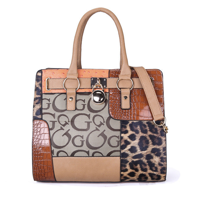 2019Leopard-print Large-capacity Women's Bag, Simple Magnetic Button Special Bag, Euro-American Wind Single-shoulder HandbagY087