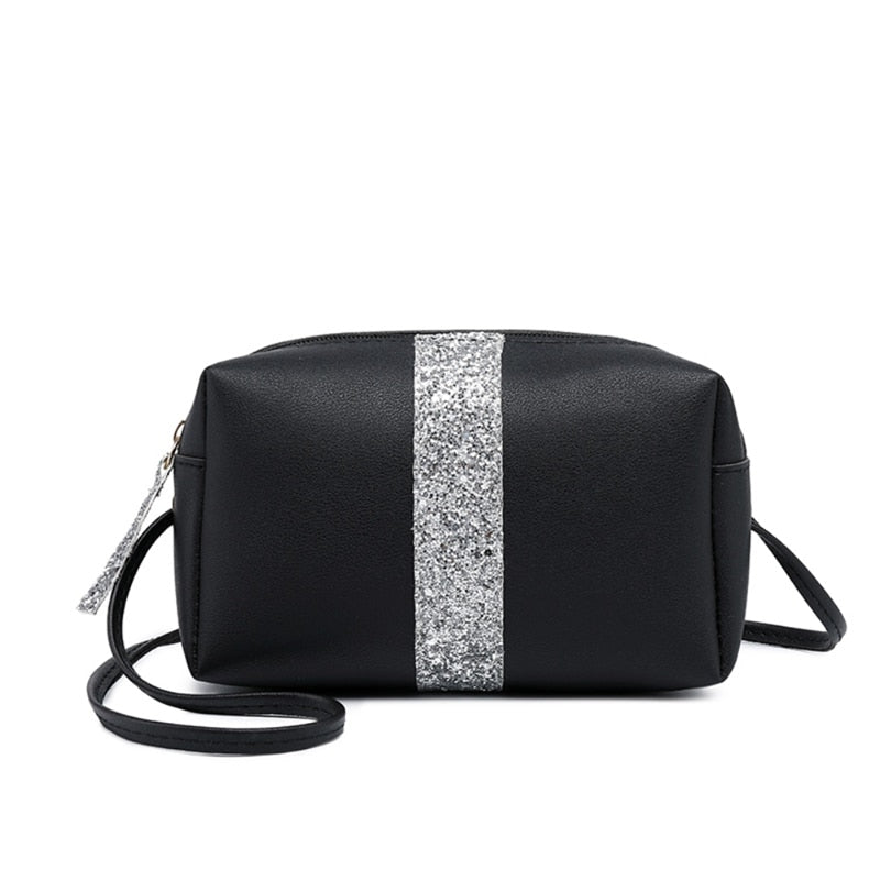 Lady Pillow Shaped Color Matching Sequin Shoulder Bags Mobile Phone Female Bag Casual Sling Handbag crossbody bags for women
