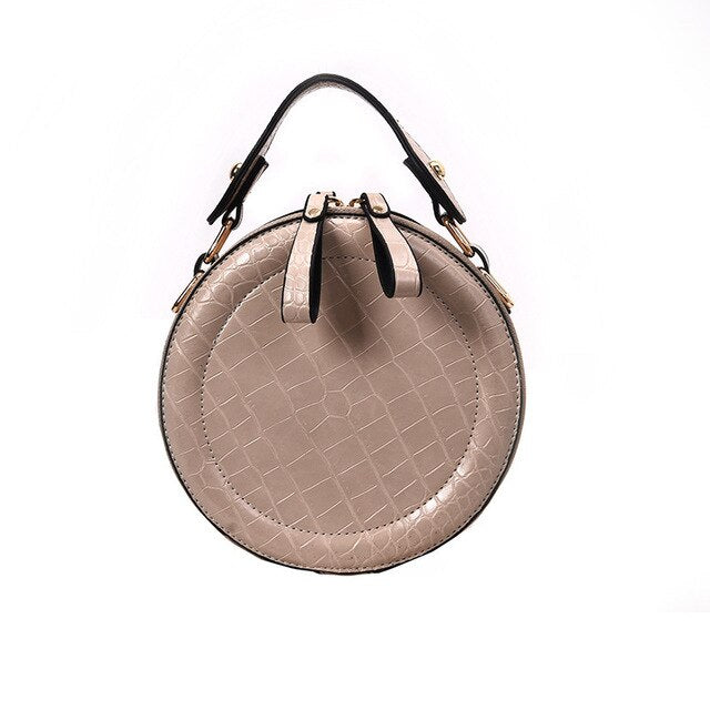 Round Crossbody Bags For Women 2019 High Quality Leather Luxury Handbag Designer Ladies Crocodile Pattern Shoulder Messenger Bag