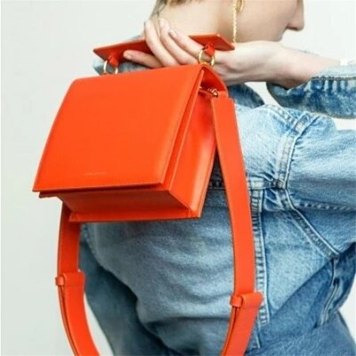 2019 New Hottest Women Shoulder Bag Luxury Handbag Famous Brand Women's Handbag Designer Crossbody Bags for Women Tote Orange