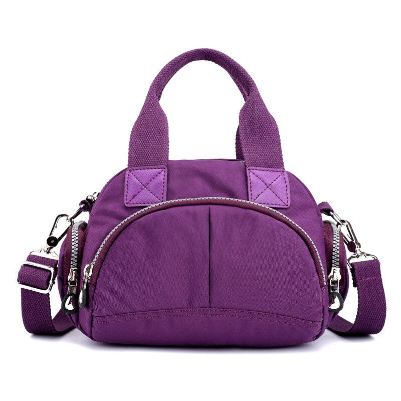New Nylon Waterproof Women Handbag Small Casual Totes Ladies Shoulder Messenger Bag Women's Bag Designer Purple Rose Shell Bag