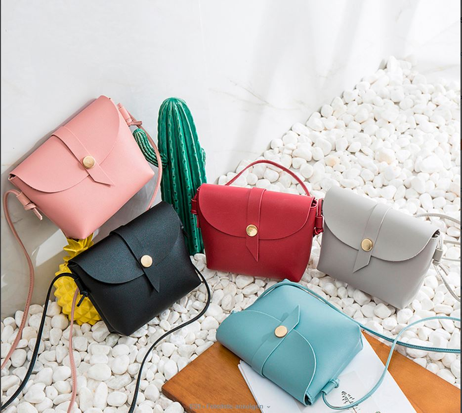 bags for women 2019 Women Candy Color One Shoulder Small Round Buckle Square Phone Bag schoudertas dames