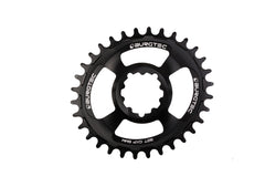 Burgtec Black Oval GXP 6mm Offset  Thick Thin Chainring