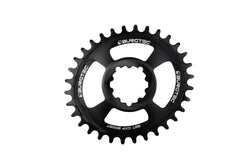 Burgtec Black Oval GXP BOOST 3mm Offset Thick Thin Chainring