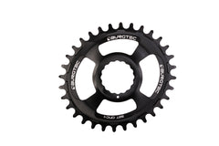 Burgtec Black Oval RF Cinch Thick Thin Chainring
