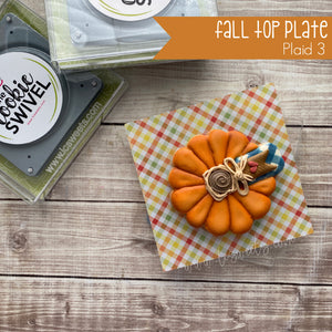 Fall Plaid Standard Top Plate