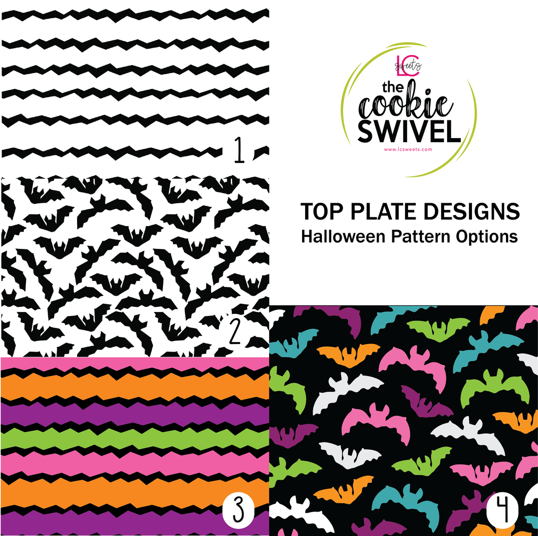 Halloween Pattern Standard Top Plate