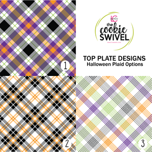 Halloween Plaid Standard Top Plate