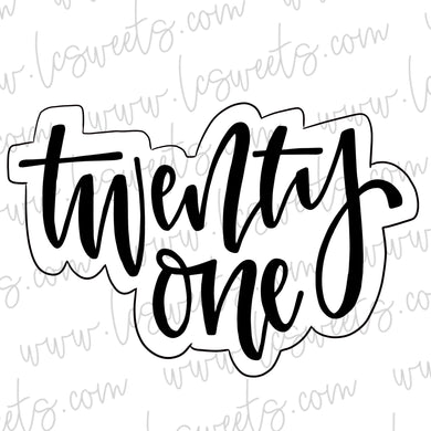 Lettered Twenty One STENCIL