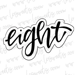 Lettered Eight STENCIL
