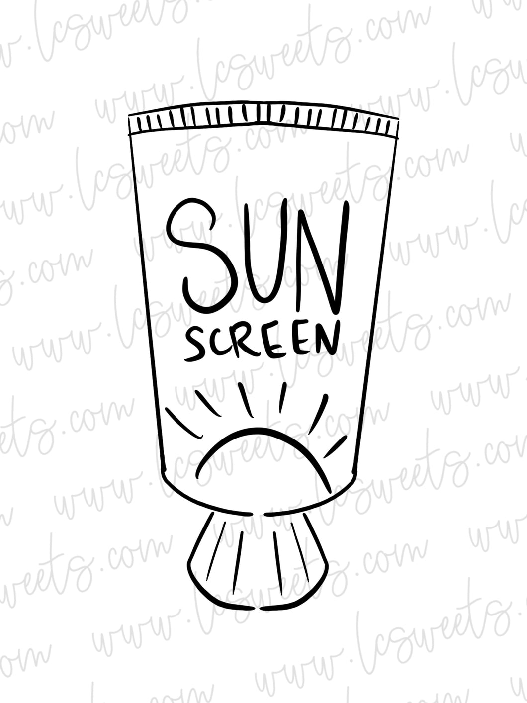Sunscreen Bottle