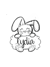Load image into Gallery viewer, Scalloped Bunny Plaque