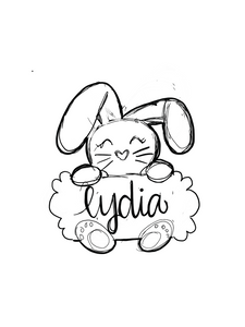 Scalloped Bunny Plaque