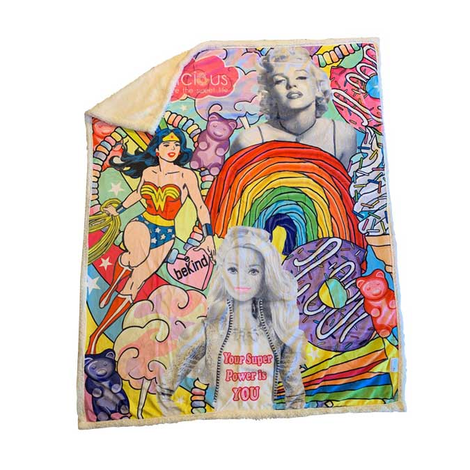 Girl Power Ultra Luxe Sherpa Blanket