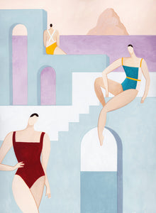 Fashion Illustration by Mari Fedi for Ozero Swimwear