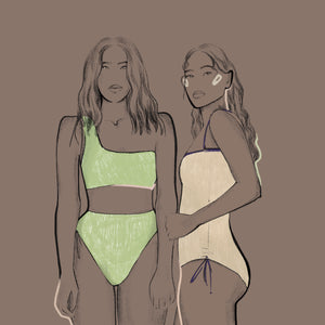 Fashion Illustrator Lera Kopeleva for Ozero Swimwear