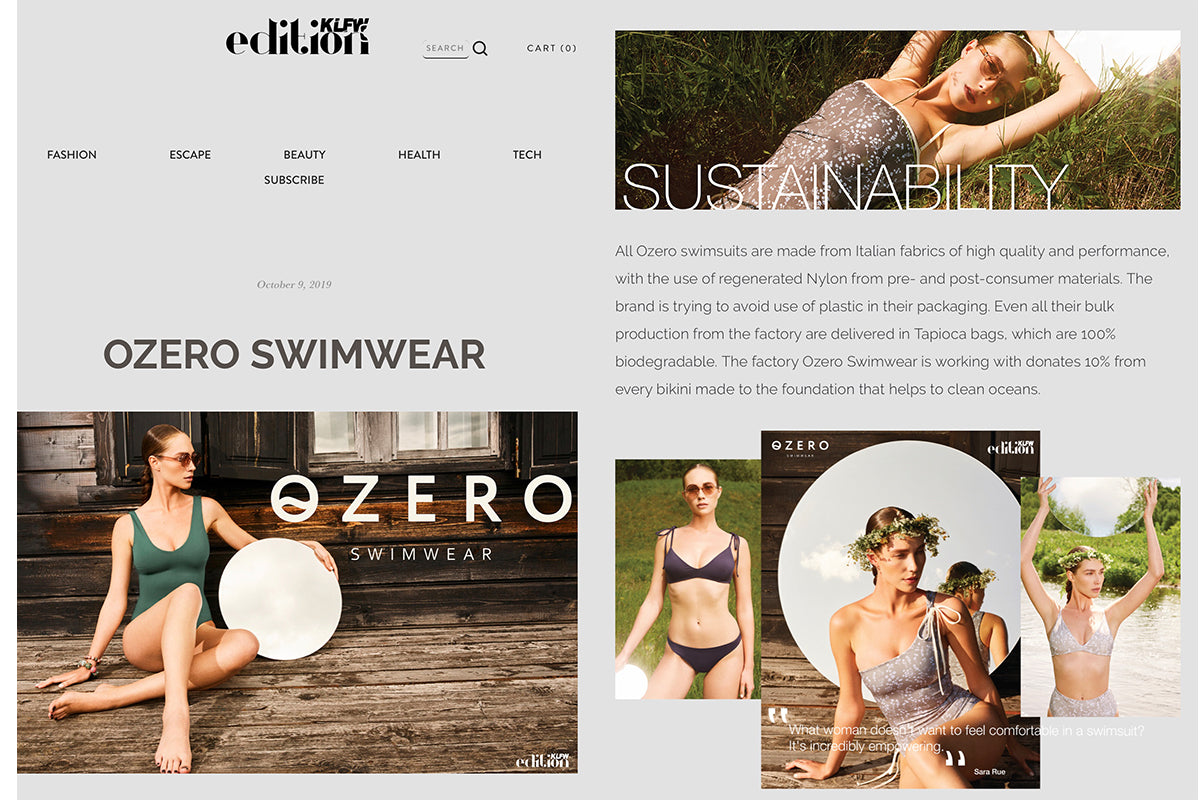 Ozero Swimwear in EDITION KLFW, October 2019