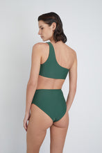 Ozero Swimwear Ladoga Sustainable Bikini Bottom in Forest Green, back view