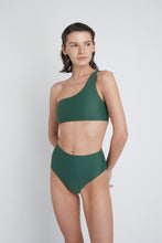 Ozero Swimwear Ladoga Sustainable Bikini Bottom in Forest Green, side view