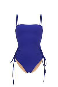 Ozero Swimwear Kvareli One-Piece Swimsuit in Violet, Italian Lycra, designed in Malaysia by Russian designer.