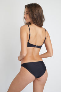 Ozero Swimwear Malawi Sustainable Bikini Top in Black, back view