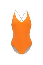 Ozero Swimwear Seliger  classic cut One-Piece Swimsuit in Burnt Orange, made in Bali from sustainable fabrics, designed in Malaysia
