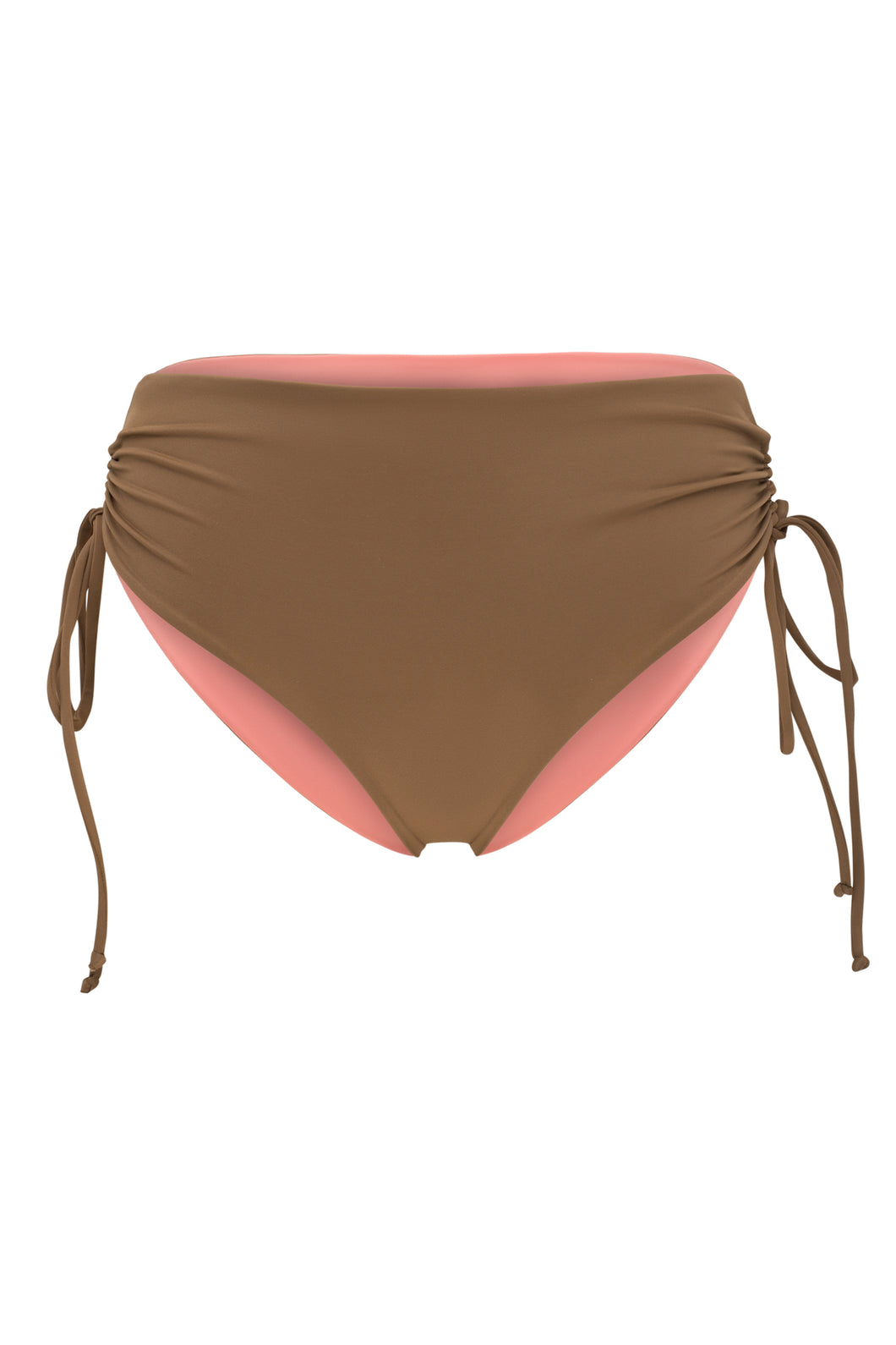 Ozero Swimwear Vida Bikini Bottom in Mocha color, designed in Kuala Lumpur from sustainable fabrics.