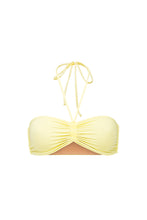 Ozero Swimwear Vida Bikini Top in Lemon color, designed in Kuala Lumpur from sustainable fabrics.