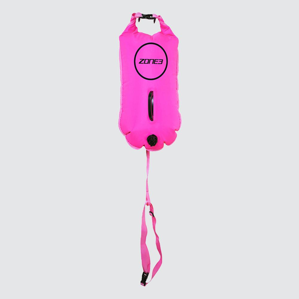 Swim Safety Buoy/Dry Bag 28L pink