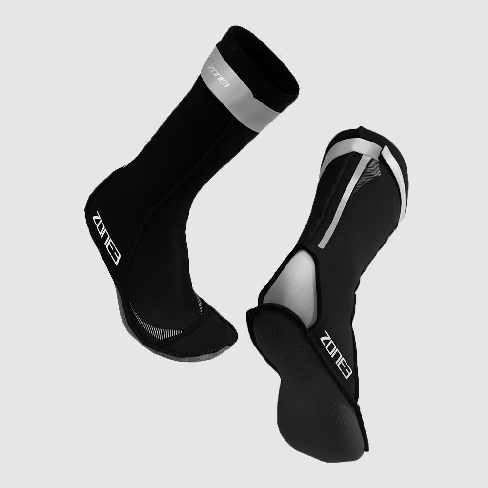 Neoprene Swim Socks silver