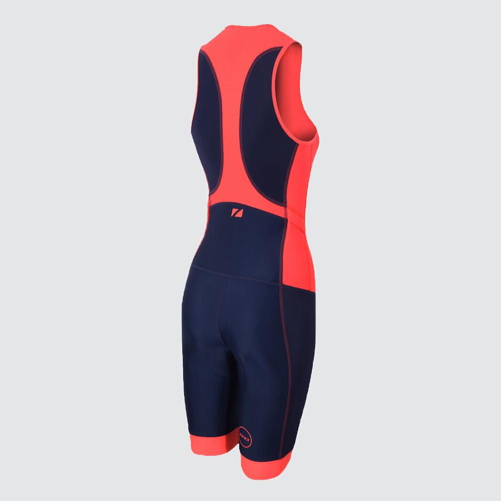 Women's Aquaflo Plus Trisuit navy back