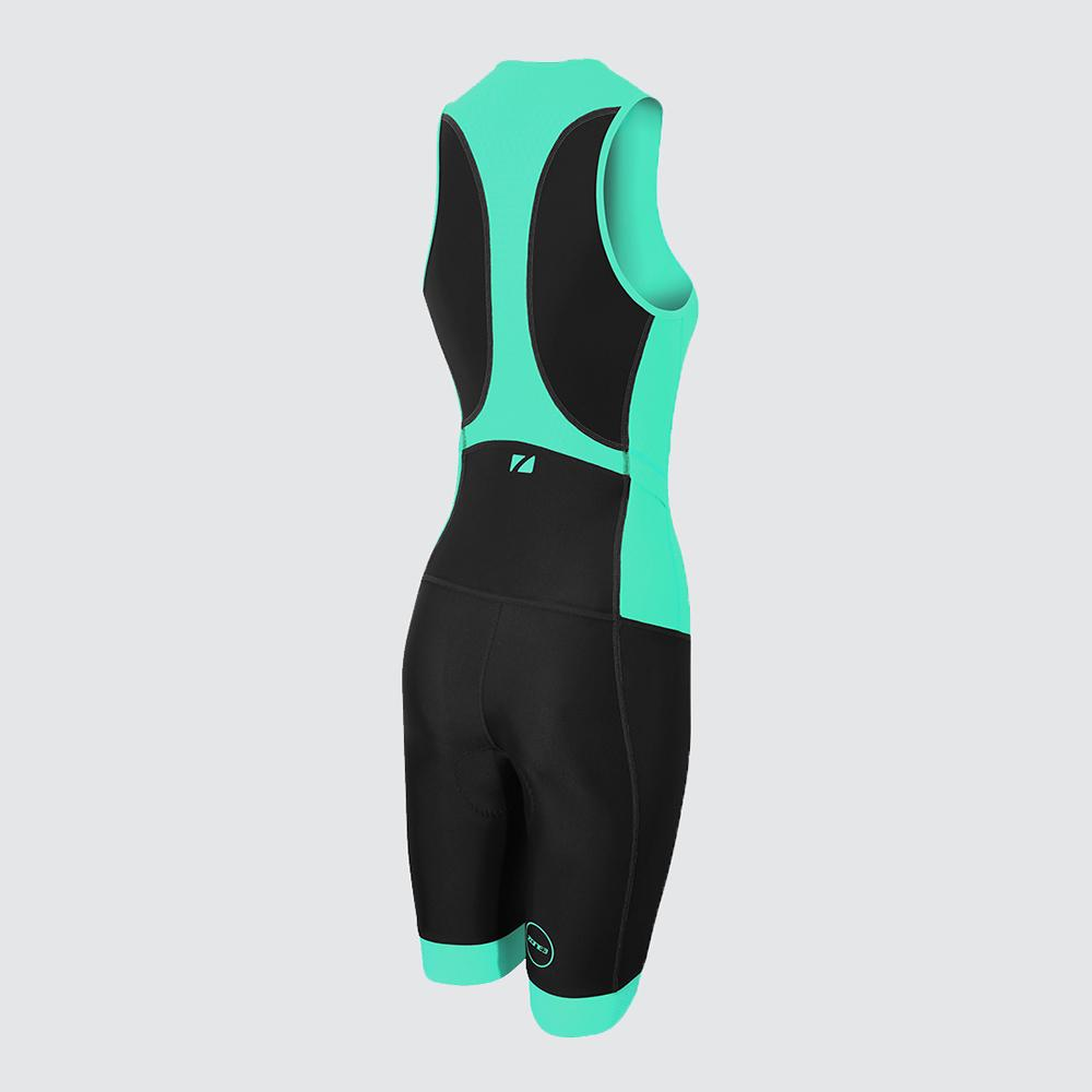 Women's Aquaflo Plus Trisuit green back