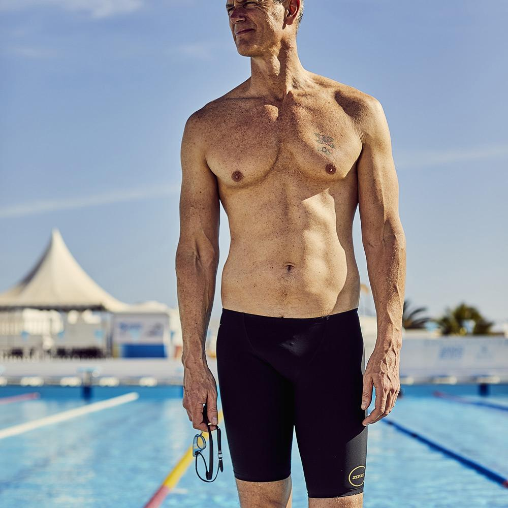 FINA Approved MF-X 'Mark Foster' Men's Jammers - Performance Gold pool