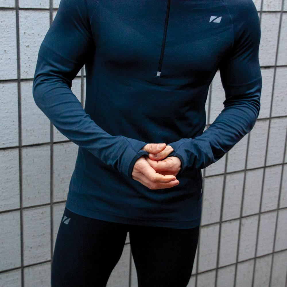 Men's Performance Culture Long Sleeve Mid Layer with 1/4 length Zip body
