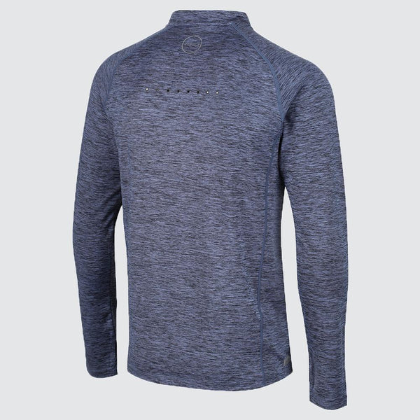Men's Zip Soft-Touch Technical Long Sleeve T-Shirt back