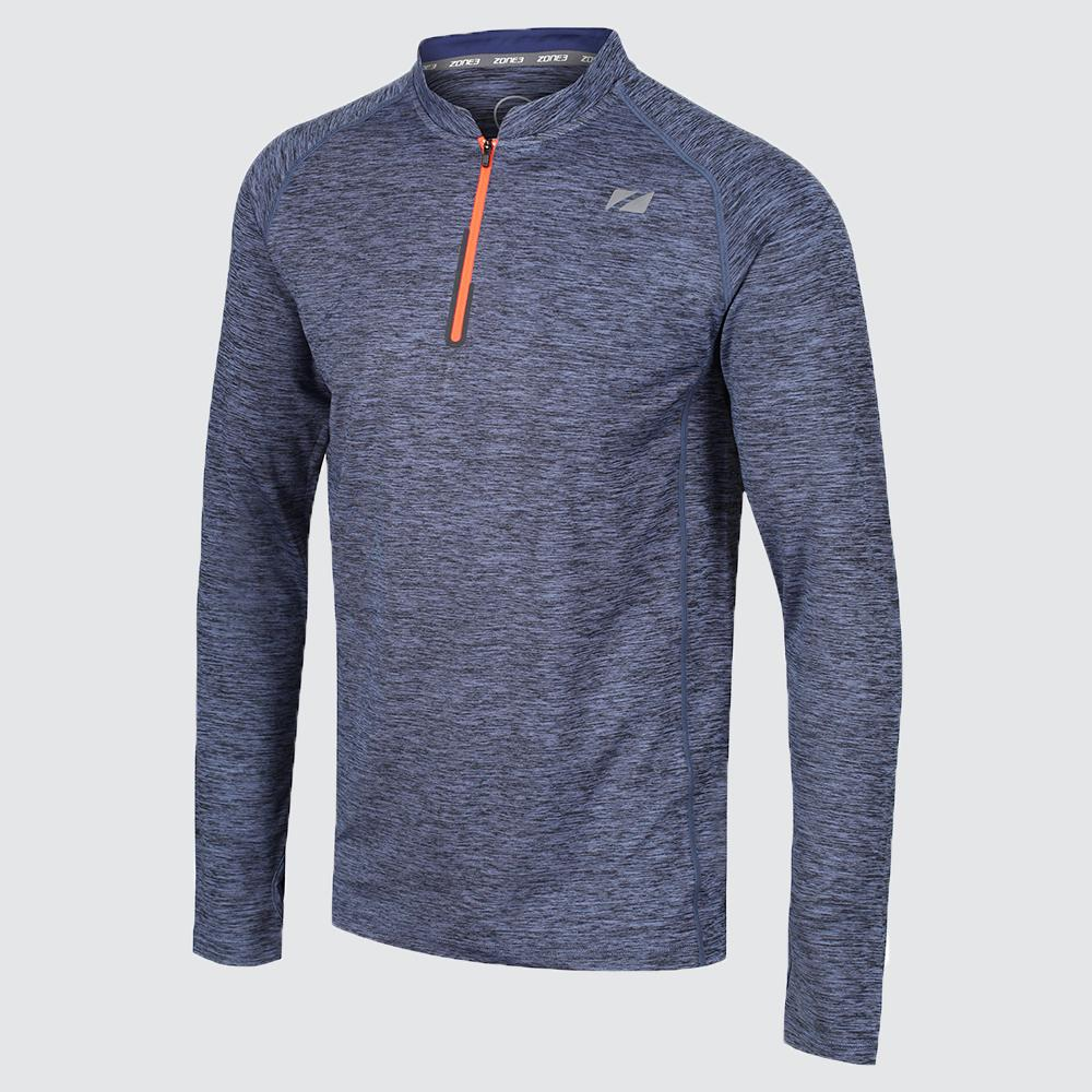 Men's Zip Soft-Touch Technical Long Sleeve T-Shirt