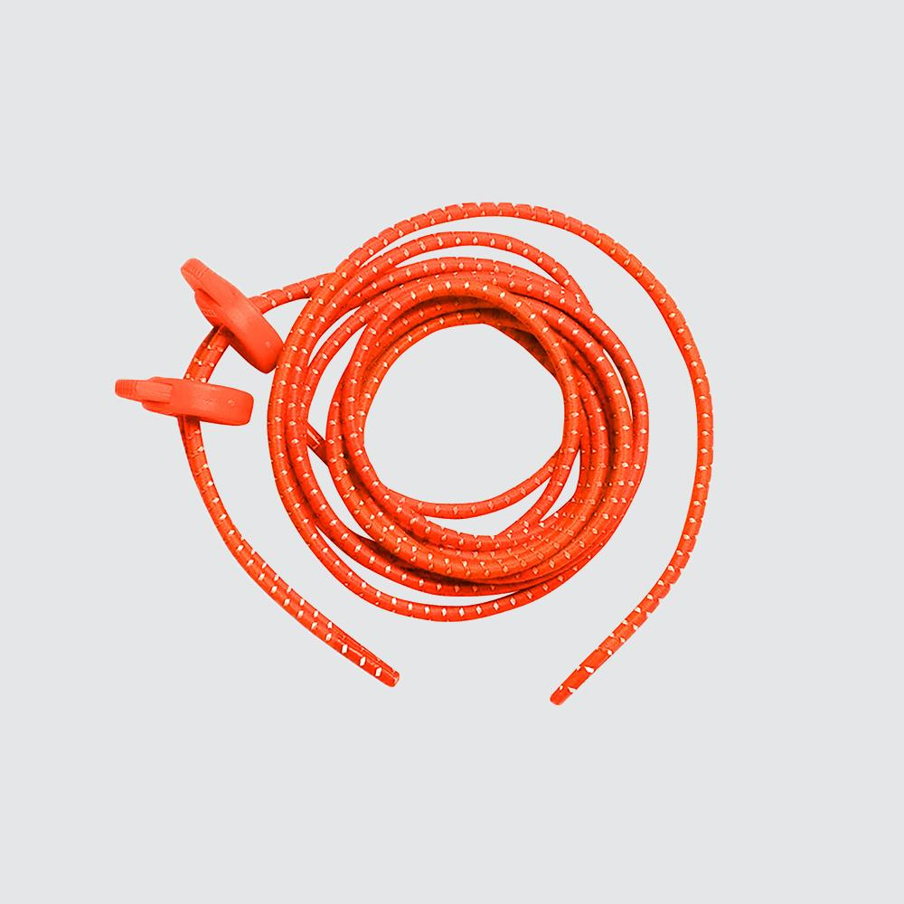 Elastic Shoe Laces for Fast Transitions orange
