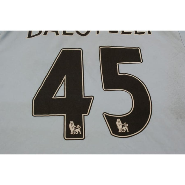 Maillot de football rétro domicile Manchester City N°45 Balotelli 2012-2013 - Umbro - Manchester City