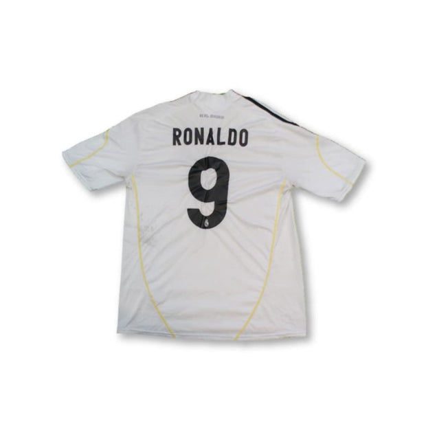 Maillot de football vintage domicile Real Madrid CF N°9 RONALDO 2009-2010 - Adidas - Real Madrid