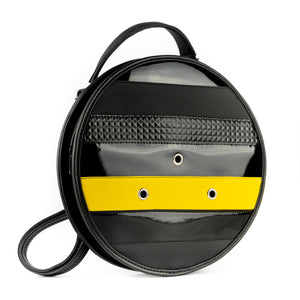 3WAY Circular Bag Vinyl Bumblebee