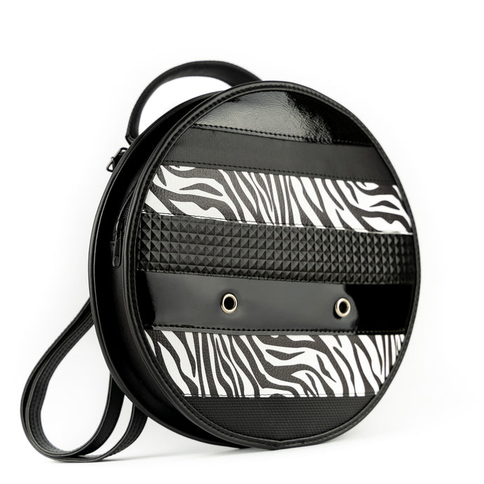 3WAY Circular Bag Vinyl Zebra