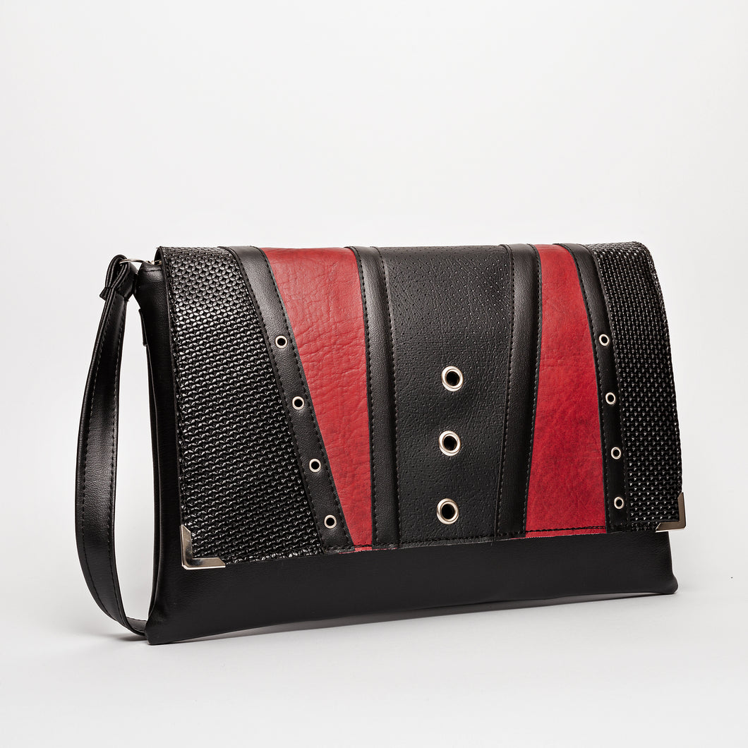 Clutch Torba Black & Vintage Red